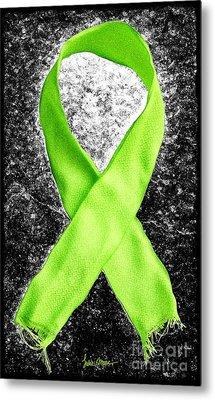 Lyme Disease Awareness Ribbon Metal Print by Luke Moore