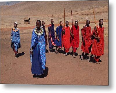 Maasai People Metal Print