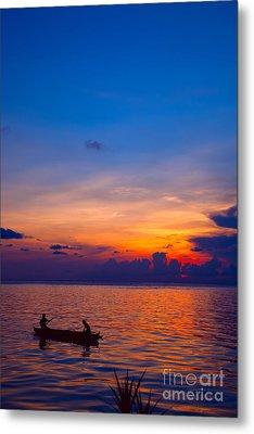 Mabul Island Sunset Borneo Malaysia Metal Print by Fototrav Print
