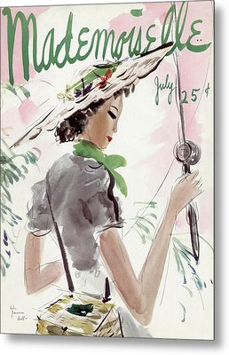 Mademoiselle Cover Featuring A Woman Holding Metal Print