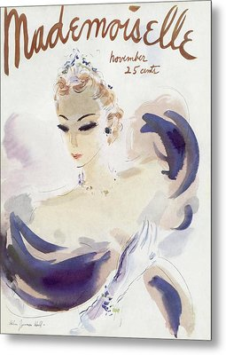 Mademoiselle Cover Featuring A Woman In A Gown Metal Print