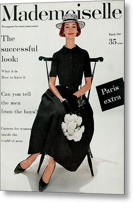 Mademoiselle Cover Featuring Model Dolores Metal Print