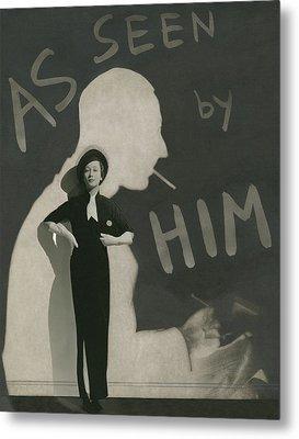 Mademoiselle Koopman Wearing A John Mcmullin Metal Print by George Hoyningen-Huene