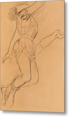 Mademoiselle La La At The Circus Fernando Metal Print by Edgar Degas