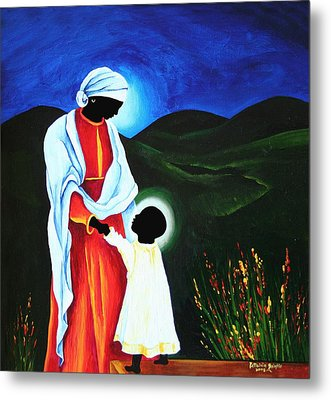 Madonna And Child  First Steps Metal Print by Patricia Brintle