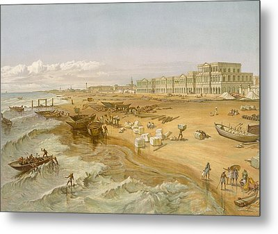 Madras, From India Ancient And Modern Metal Print by William 'Crimea' Simpson