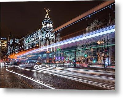 Madrid Traffic Metal Print
