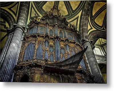 Magnificent Pipe Organ Metal Print by Lynn Palmer