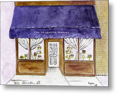 Magnolia Bakery In Greenwich Village Metal Print by AFineLyne