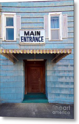 Main Entrance Metal Print by MaryJane Armstrong