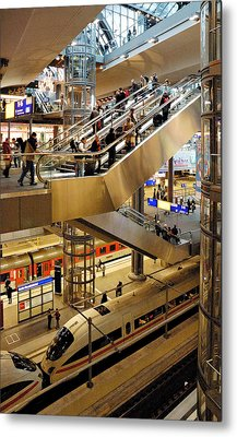 Main Station Berlin Germany Metal Print by David Davies