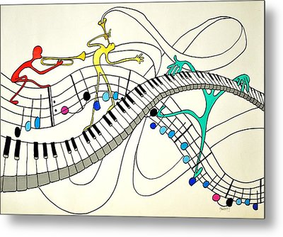 Making Music Metal Print by Glenn Calloway