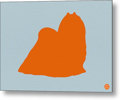 Maltese Orange Metal Print by Naxart Studio