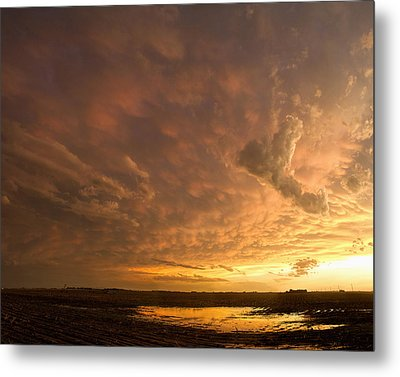 Metal Print featuring the photograph Mammatus Clouds by Rob Graham