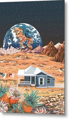 Man On The Moon Metal Print by Anne Gifford