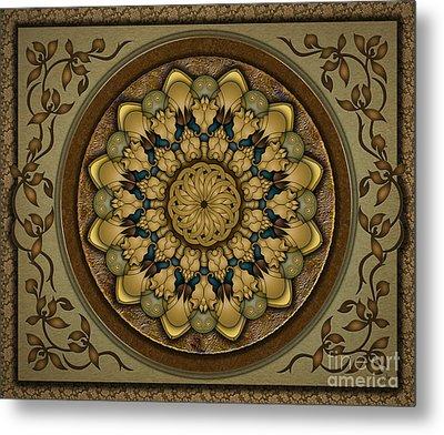 Mandala Earth Shell Sp Metal Print