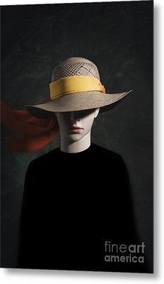 Mannequin With Hat Metal Print