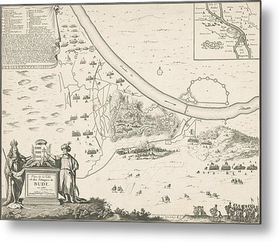 Map Of Buda, 1686, Harmanus Van Loon, Lodewijk Xiv King Metal Print