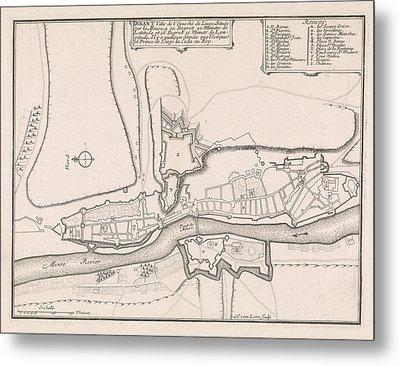 Map Of Dinant, 1693, 1693 Metal Print