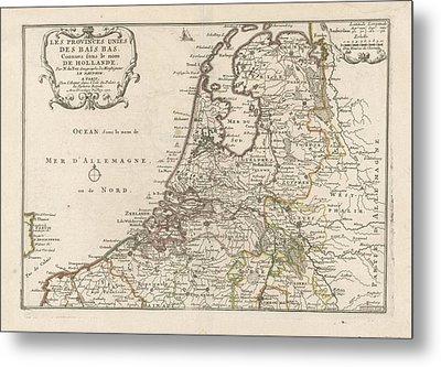 Map Of The Netherlands, 1701, Harmanus Van Loon Metal Print
