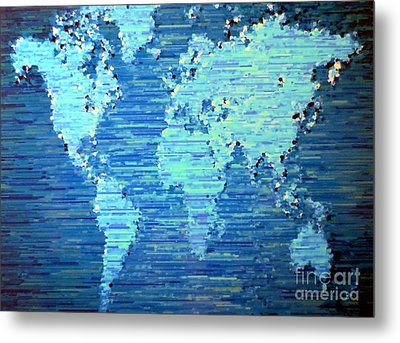 Map Of The World Metal Print by Susan Waitkuweit