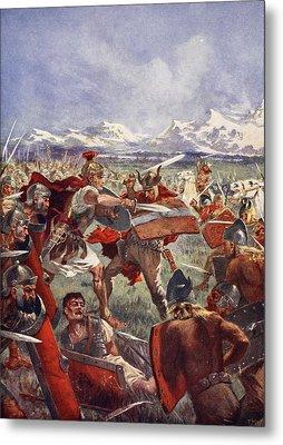 Marcellus Duel With Virdumarus Metal Print