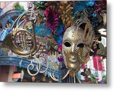 Mardi Gras Mask Metal Print by Heidi Smith