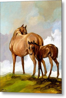 Mare And Foal Metal Print by Patricia Howitt