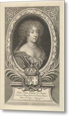 Marie Jeanne Baptiste De Savoie-nemours Metal Print by Robert Nanteuil