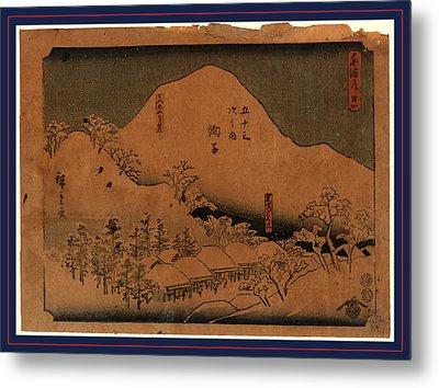 Mariko, Ando Between 1848 And 1854, 1 Print  Woodcut Metal Print by Utagawa Hiroshige Also And? Hiroshige (1797-1858), Japanese