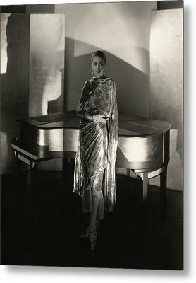 Marion Morehouse By A Piano Metal Print by Edward Steichen