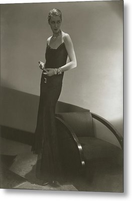 Marion Morehouse In A Chanel Dress Metal Print