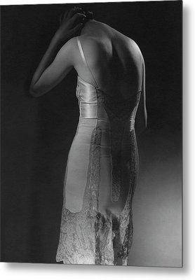 Marion Morehouse Wearing A Corset Metal Print by Edward Steichen