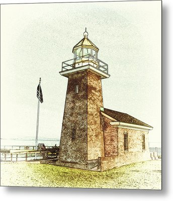 Mark Abbott Lighthouse Santa Cruz California Metal Print by Paul Topp