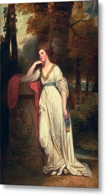 Mary, Lady Beauchamp-proctor, C.1782-88 Metal Print by George Romney