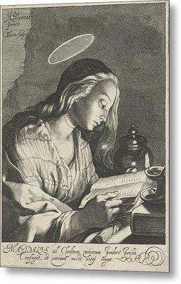 Mary Magdalene Reading, Cornelis Bloemaert II Metal Print by Cornelis Bloemaert (ii)