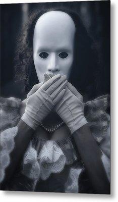 Masked Woman Metal Print