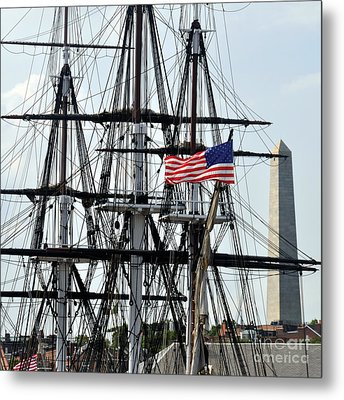 Mast And Flag Metal Print by Cheryl McClure