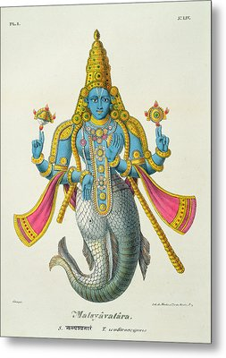 Matsyavatara Or Matsya, From Linde Metal Print by A. Geringer