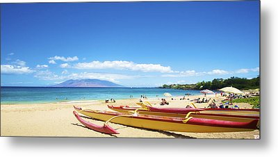 Maui Outriggers Metal Print by Kicka Witte