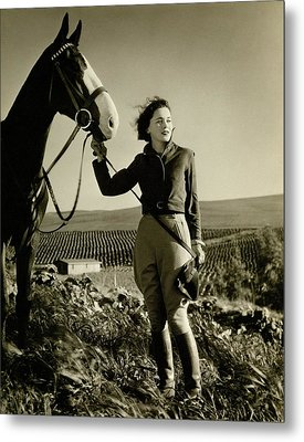 Maureen O'sullivan Standing On A Hill Metal Print by George Hurrell