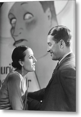 Maurice Chevalier And Yvonne Vallee Metal Print