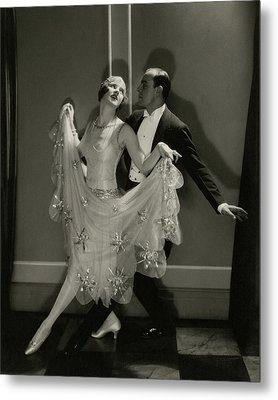 Maurice Mouvet And Leonora Hughes Dancing Metal Print by Edward Steichen