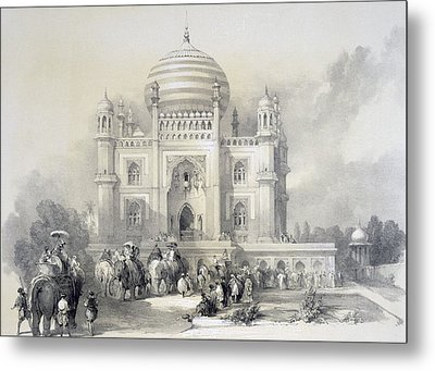 Mausoleum Of Jufhir Junge, Delhi Metal Print by English School