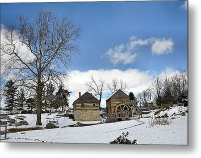 Mccormick Farm In Winter Metal Print by Todd Hostetter