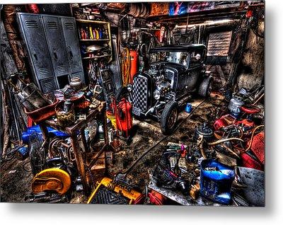 Mechanics Garage Metal Print