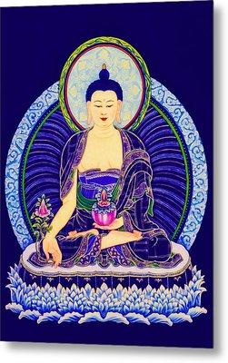 Medicine Buddha 6 Metal Print by Lanjee Chee