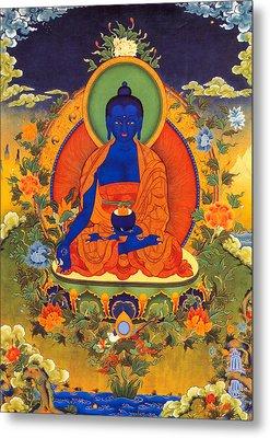 Medicine Buddha Metal Print by Lanjee Chee
