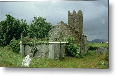 Medieval Church And Churchyard Metal Print by Unknown