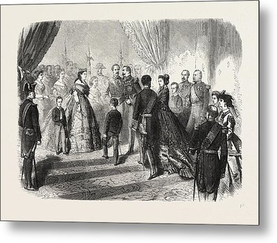 Meeting Of The French And Spanish Royal Families Metal Print